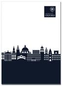 image of blue skyline notepad