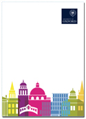 image of colour skyline notepad