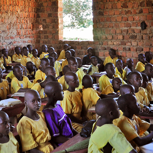 Ugandan schoolgirls stay in lessons when helped with periods