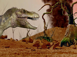 Volcanic eruptions triggered dawn of the dinosaurs