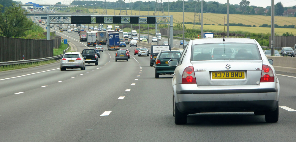 Home counties blamed for car pollution in the southeast