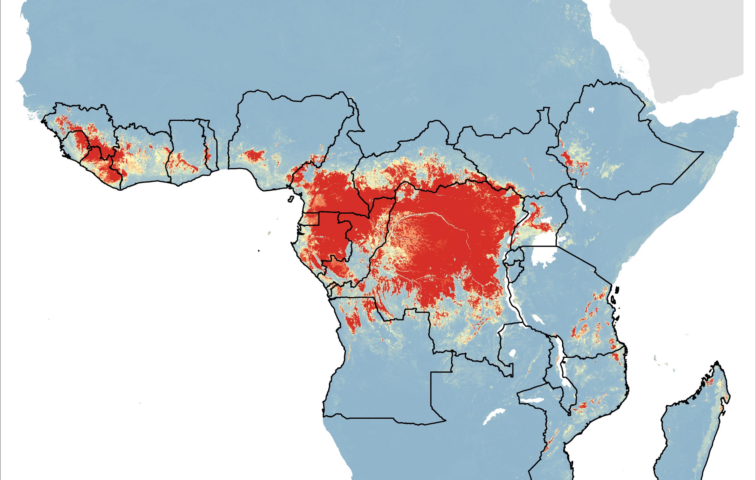 Ebola Map Africa Risk of Ebola emergence mapped | University of Oxford