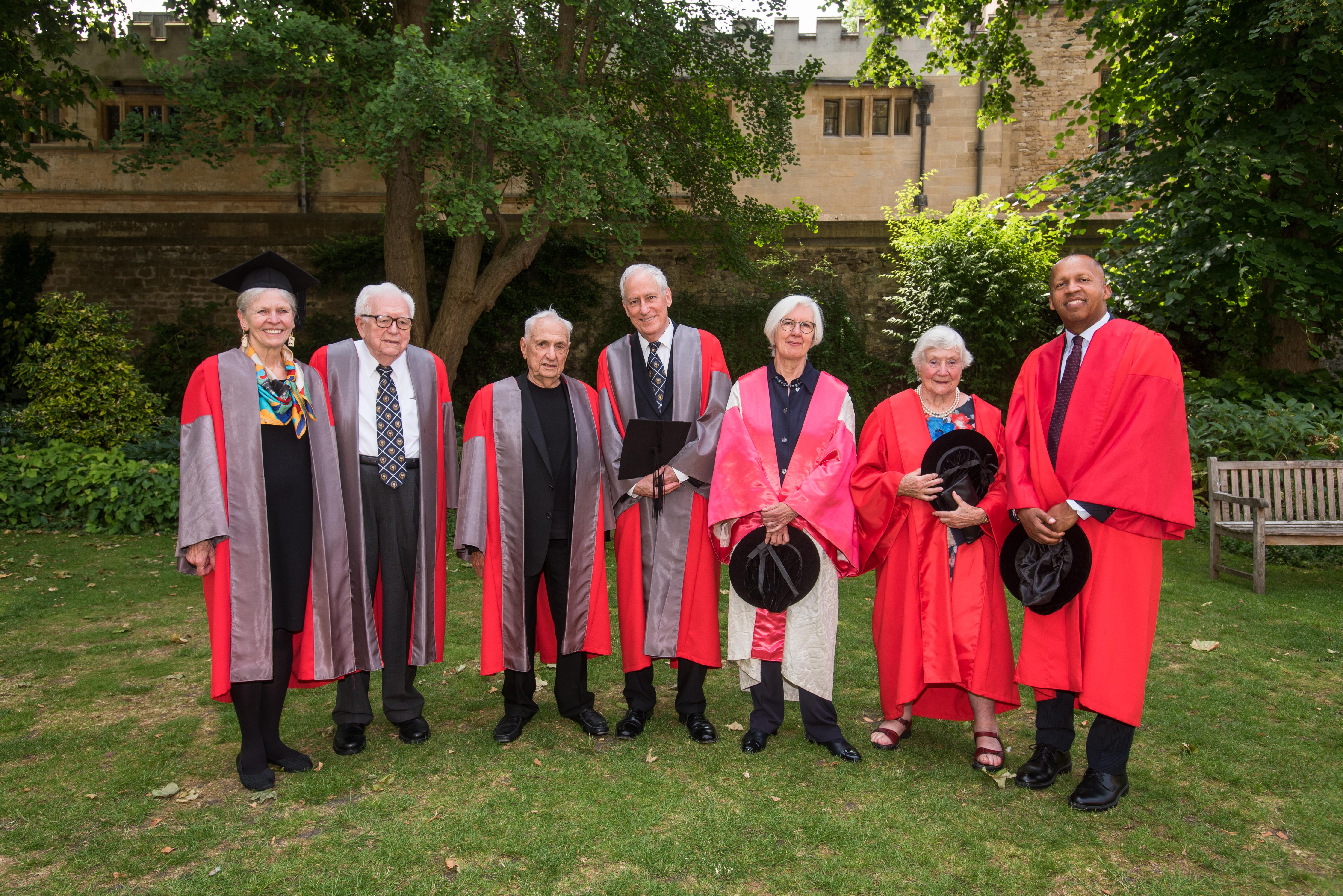Seven eminent figures awarded honorary degrees at Encaenia