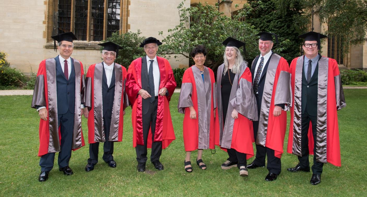 Honorary degrees awarded at Encaenia 2018