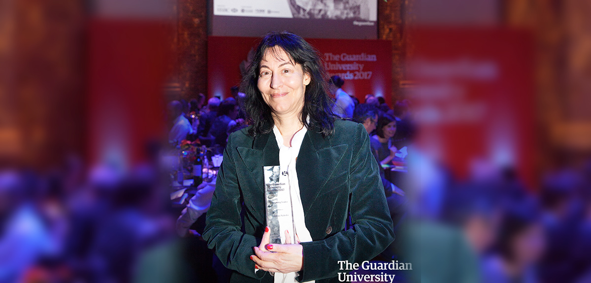 Karma Nabulsi receives Guardian's 'Inspiring Leader' award