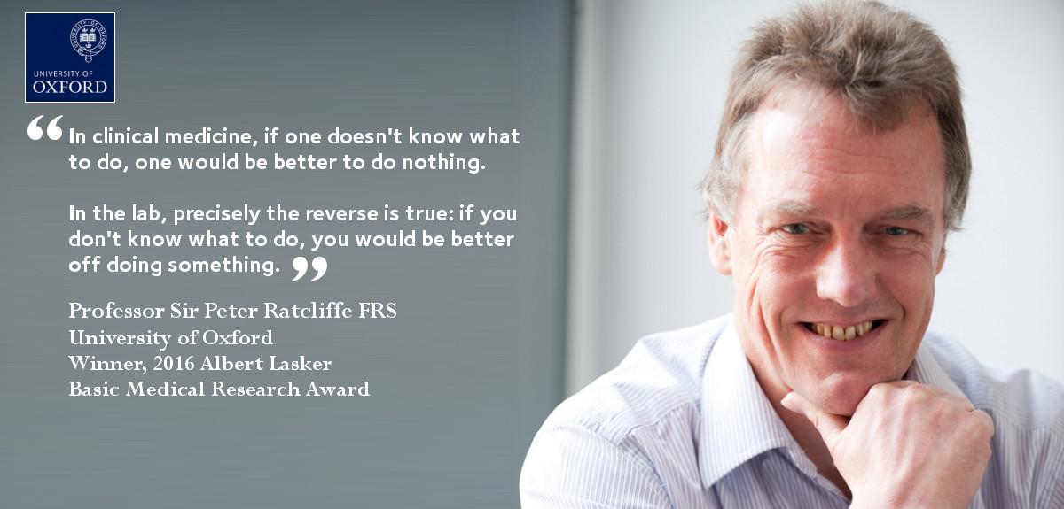 Lasker Award for Professor Sir Peter Ratcliffe