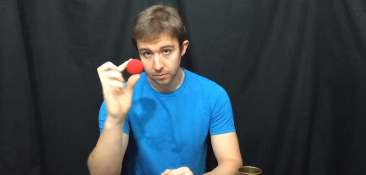 Psychologist's magic makes a non-existent object disappear