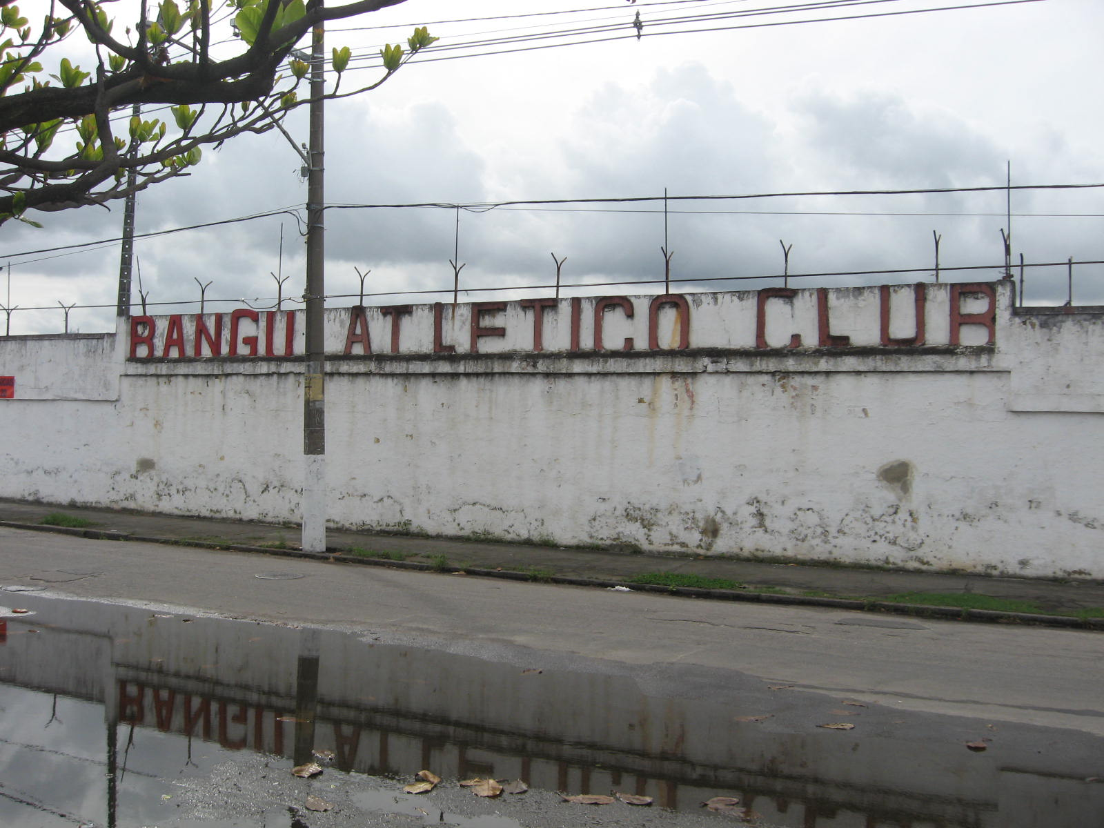 Bangu Atlético Clube became the first football team to field a black player at national competitions in Brazil. A statue of Thomas Donohue stands outside the club