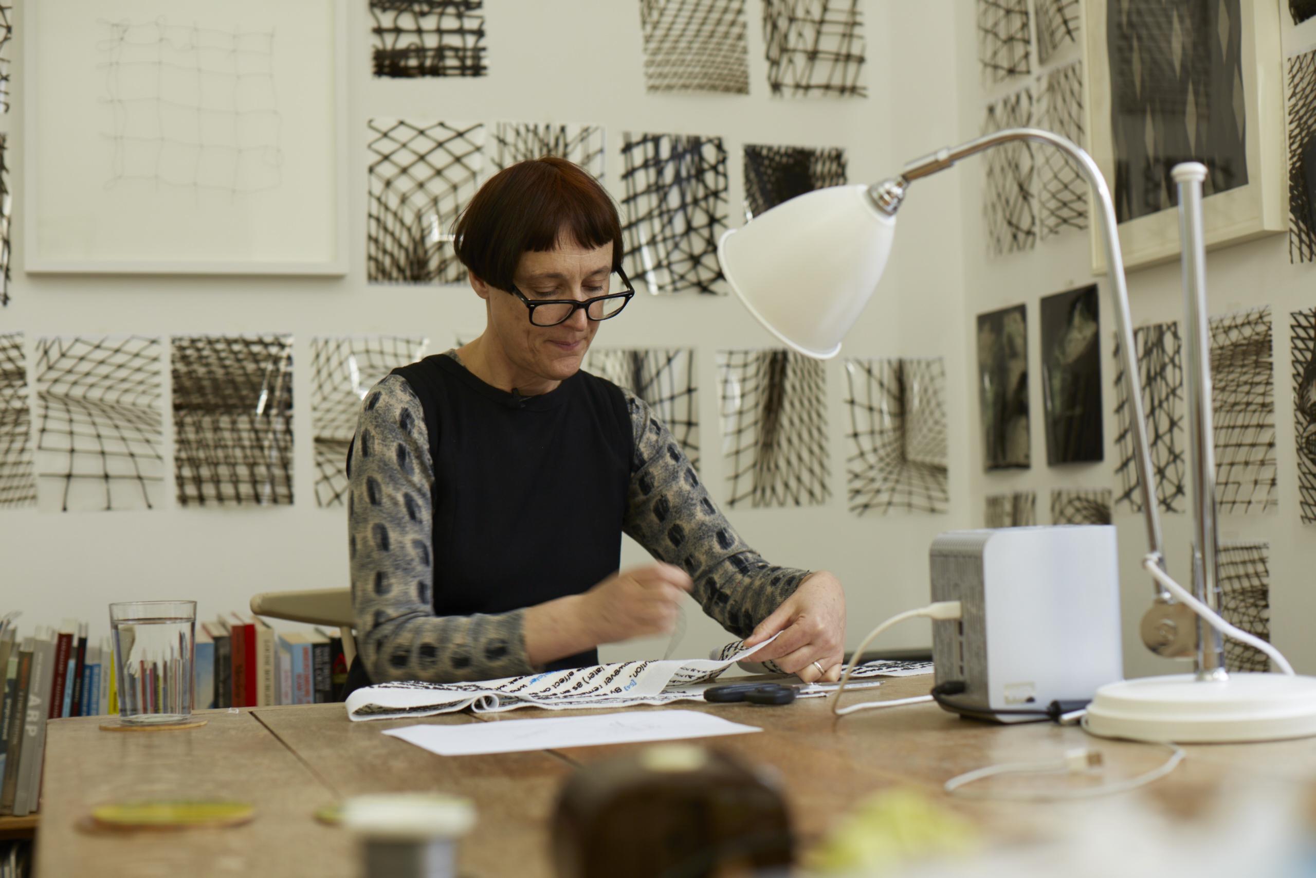 Cornelia Parker at work