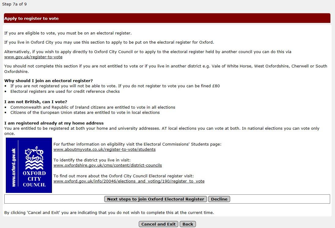 student self service | university of oxford, Presentation templates