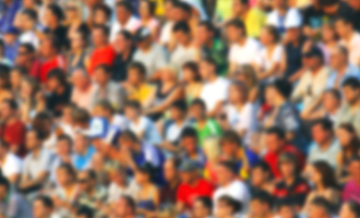 crowd at a sports event