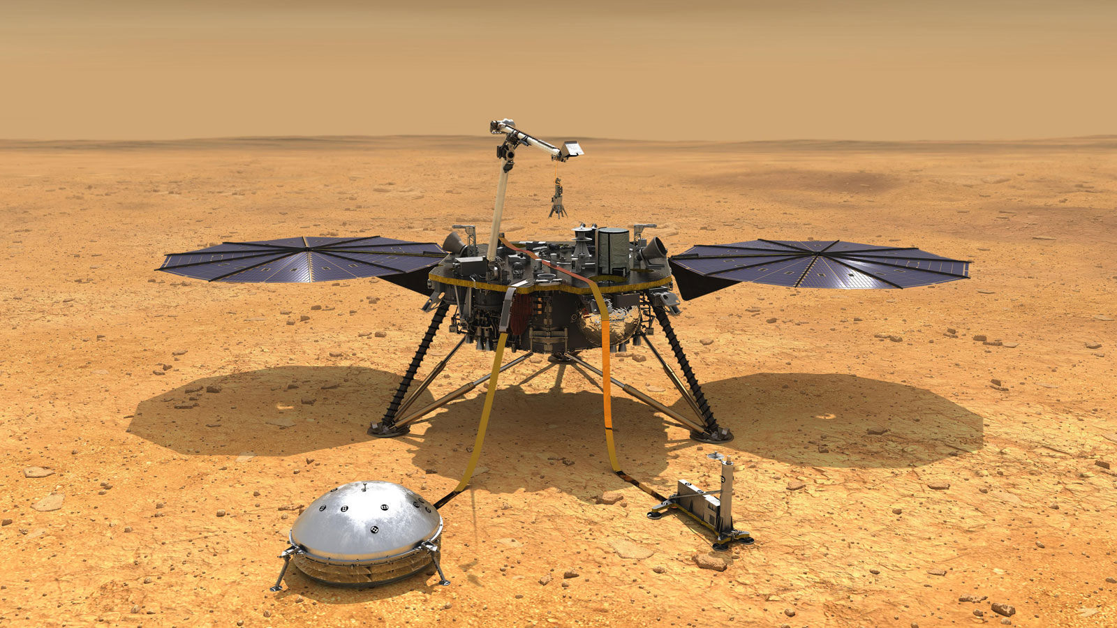 InSight's seismometers are potentially sensitive enough to detect Perseverance's landing, even though this is expected to be very challenging - given the significant distance between the two landing sites. It is around the same distance as from London to