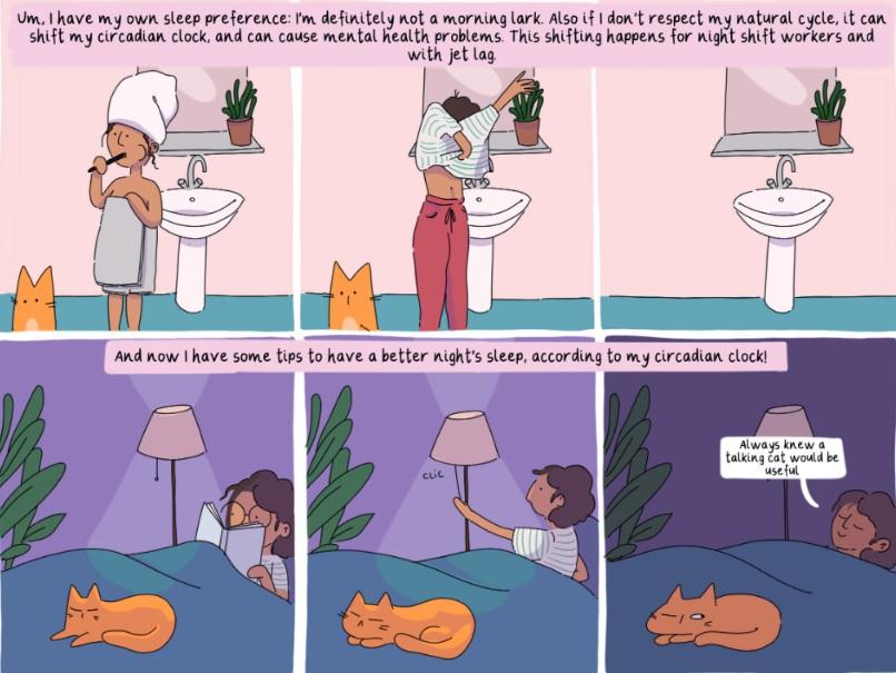 Panel from sleep comic