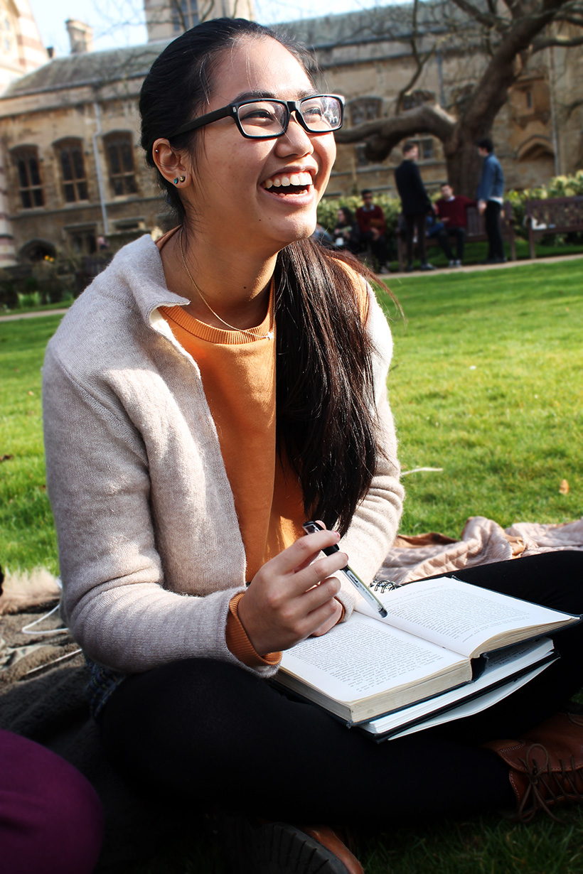Studying on the Quad