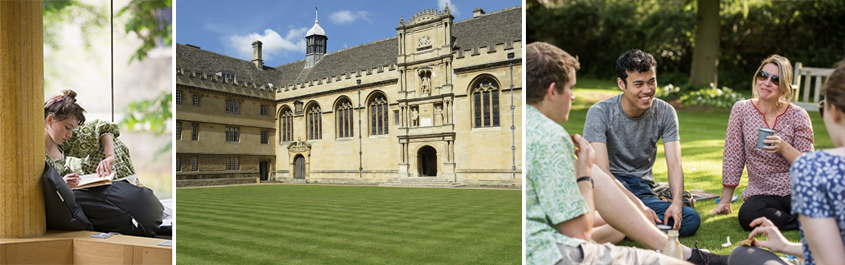 Students at Wadham College