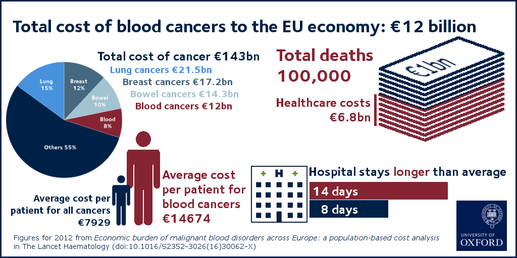 Infographic - Cost of blood cancers to the EU economy in 2012