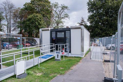 A COVID-19 testing facility in Oxford