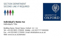 Department business card