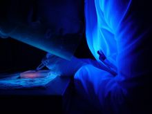 Working on luminescent material in the lab
