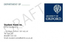 Business cards   University of Oxford