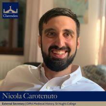 Nicola Carotenuto, External Sec. Clarendon Council 2021