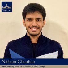 Nishant Chauhan, Social Sec. Clarendon Council 2021