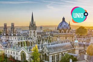 Oxford skyline with the UNIQ+ logo.
