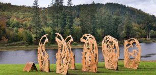 The sculptures in the Cheeseburn Sculpture Park