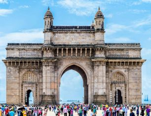 The Gateway of India monument in Mumbai