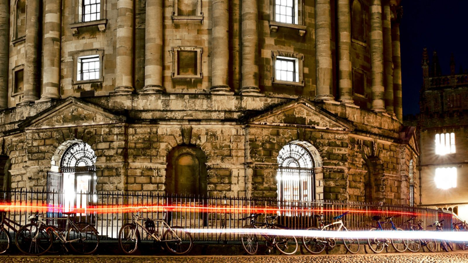 Night time view of the Radcliffe Camera
