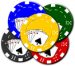 Illustration of a handful of poker chips