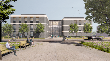 Artist's impression of the new commercial building as part of Begbroke Science Park expansion