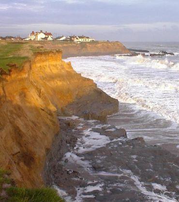coastal flooding and cliff erosion