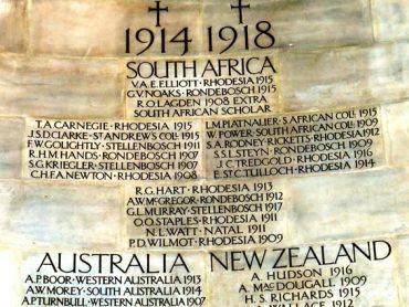 Rhodes House Commemorative Memorial (section)