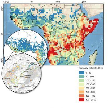 Africa bioquality hotspots