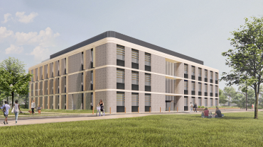Artist's impression of the new academic building as part of Begbroke Science Park expansion