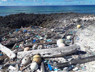 Flip flops and fishing debris on Aldabra