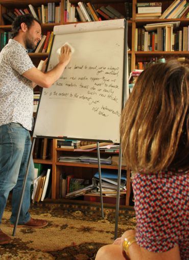 Jonny Berliner works with researcher Professor Abigail Williams