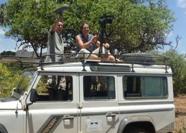 Lucy King and Joseph Soltis film elephants reacting to Samburu voices