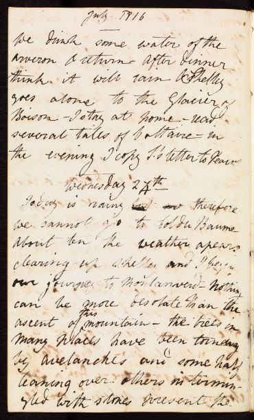 Mary Shelley journal