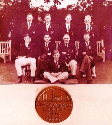 1948 Olympics portraits medal