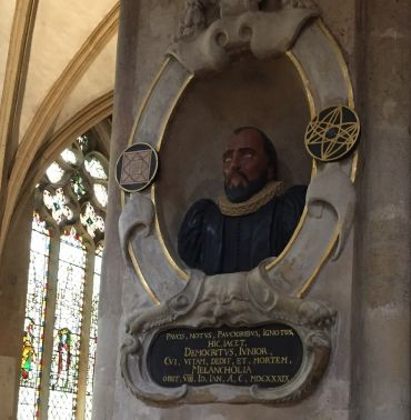 Bust of Robert Burton at Christ Church Cathedral