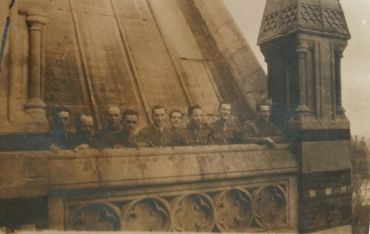 Cadets on the Chapel roof
