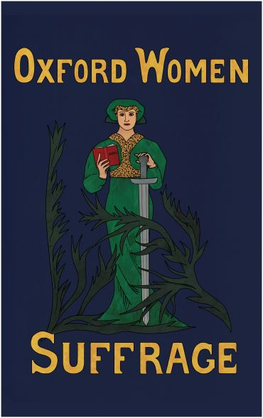 'Oxford Women Suffrage' banner
