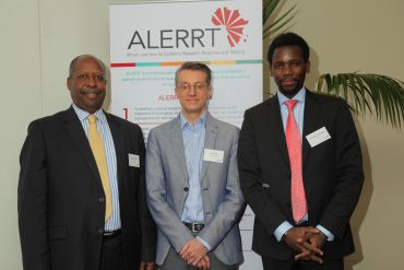 L-R: Dr Leonardo Simao, EDCTP High Representative for Africa; Professor Peter Horby, Centre for Tropical Medicine and Global Health; Dr Jean Marie Habarugira, EDCTP Project Officer.