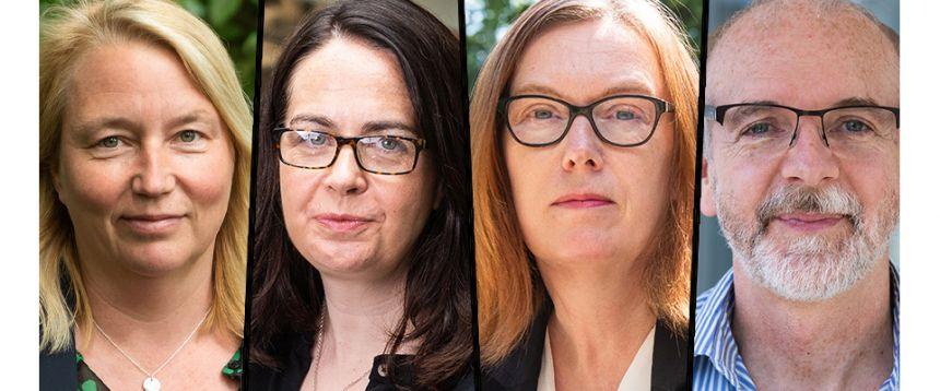 L to R: Prof Catherine Green, Prof Teresa Lambe, Prof Sarah Gilbert, Prof Andrew Pollard
