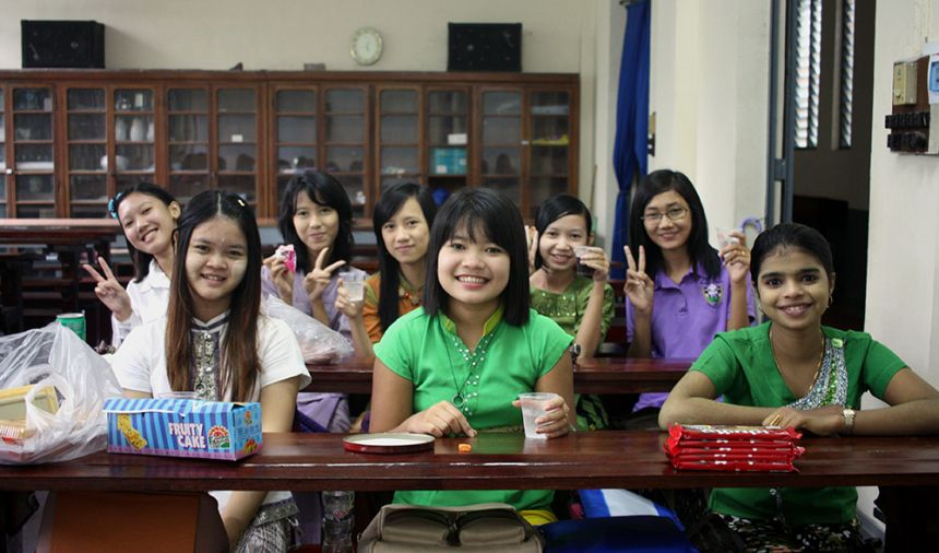 Burmese zoology students