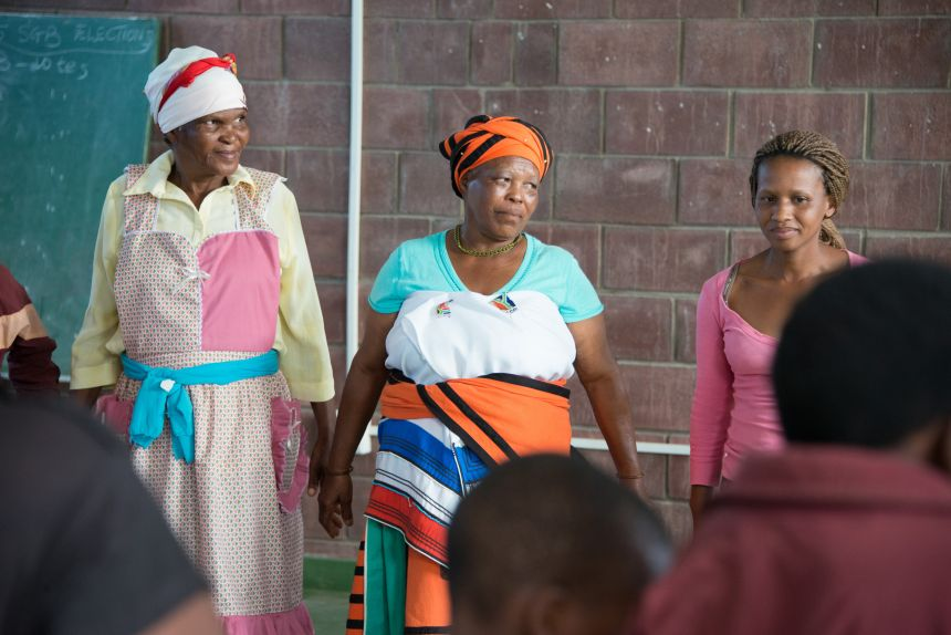 A Sinovuyo Caring Families group session in Rhamniyaba village, Eastern Cape