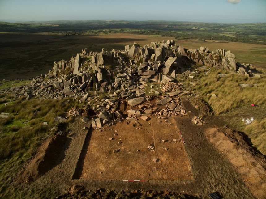 Image credit: Carn Goedog bluestone outcrop, Adam Stanford, Aerial-Cam Ltd