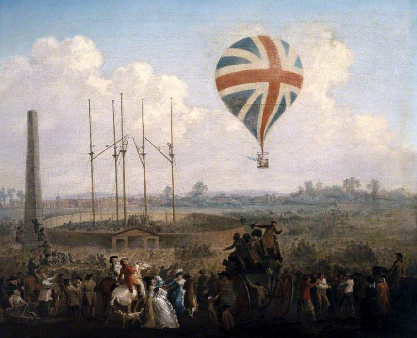 Lunardi's flight from St George's Fields in 1785